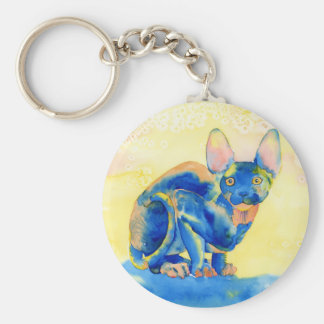 Sphynx Cat Keychain
