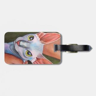 Sphynx Cat Luggage Tag