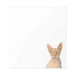 Sphynx Cat Watercolor Portrait Notepad