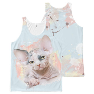 Sphynx kitten All-Over print tank top
