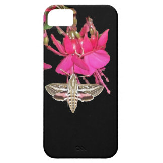 Sphynx Moth Butterfly Fuschia Flowers Floral iPhone 5 Case