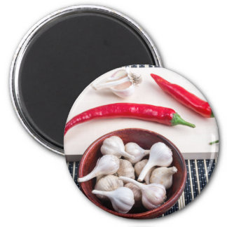 Spice background for cooking 6 cm round magnet