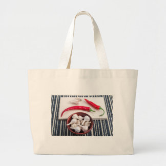 Spice background for cooking large tote bag