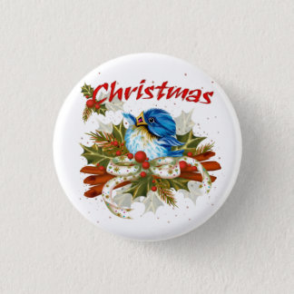 SPICE BIRD CHRISTMAS SMALL BUTTON