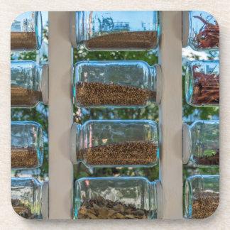 Spice jars hard plastic coasters
