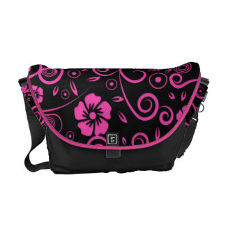 Spiced Pink Floral Courier Bags