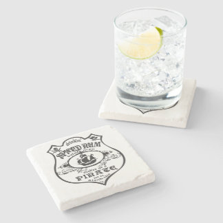Spiced Rum Pirate Stone Beverage Coaster