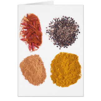Spices collection card