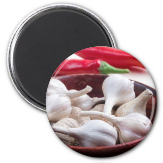 Spices for cooking closeup 6 cm round magnet
