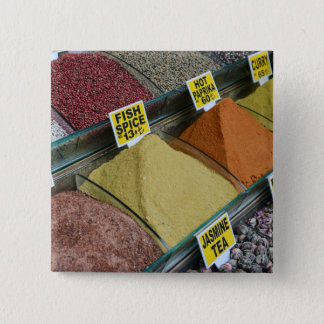 Spices for Sale in Istanbul Turkey 15 Cm Square Badge
