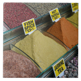 Spices for Sale in Istanbul Turkey Tile