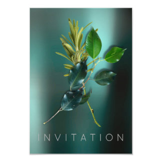 Spices Italian Chef Dinner Greenery Organic Teal Card