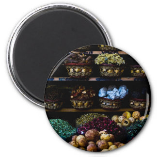 Spices of the Middle East 6 Cm Round Magnet