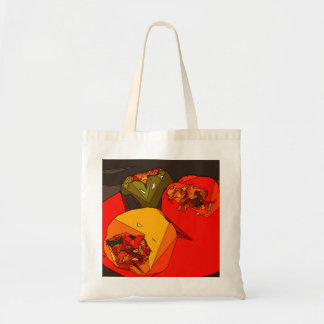 Spicy Bell Pepper Trio Tote Bags