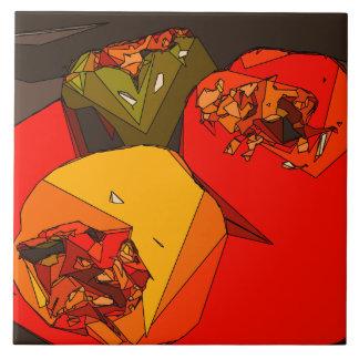 Spicy Bell Pepper Trio Ceramic Tiles