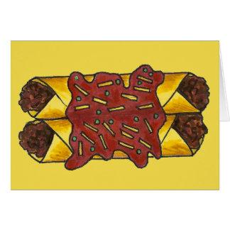 Spicy Black Bean Cheese Enchiladas Mexican Food Card