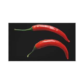 Spicy Chili Peppers Stretched Canvas Prints