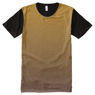 Spicy Gold Brown Ombre All-Over Print T-Shirt