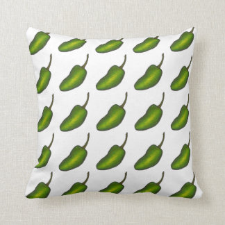 Spicy Green Jalapeno Pepper Peppers Pillow