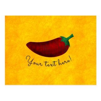 Spicy Hot Southwest Chili Pepper Postcard