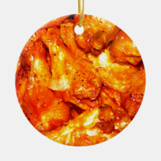 Spicy Hot Wings Ceramic Ornament