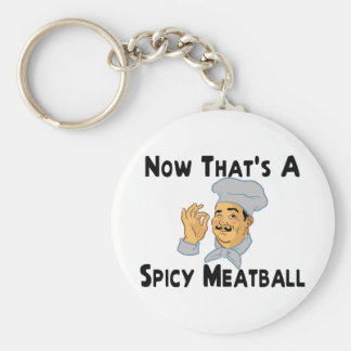 Spicy Meatball Key Ring