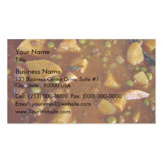 Spicy Mixed vegetables curry Business Card Templates