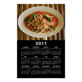 Spicy Papaya Salad [Som Tam] 2011 Calendar Poster