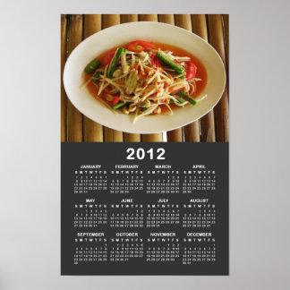 Spicy Papaya Salad [Som Tam] 2012 Calendar Poster