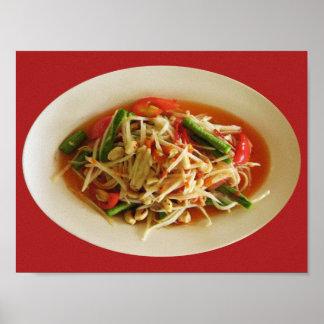 Spicy Papaya Salad [Som Tam] Poster