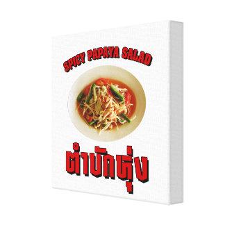 Spicy Papaya Salad Tam Mak Hung Isaan Dialect Stretched Canvas Prints