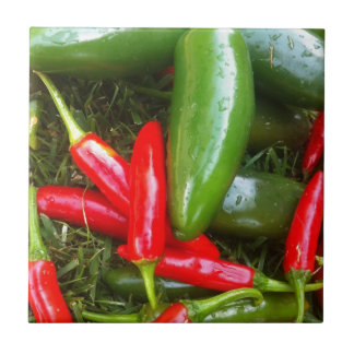 Spicy Peppers Small Square Tile