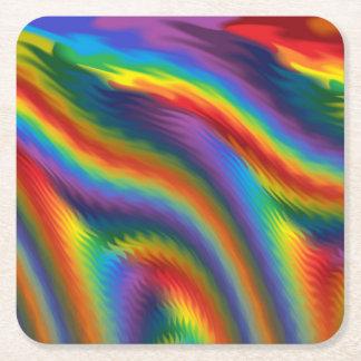 Spicy Rainbow Square Paper Coaster