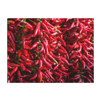 Spicy Red Chili In The Town Of Kalocsa Gallery Wrapped Canvas
