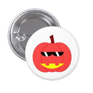 Spicy Red Jack-o -Lantern Button