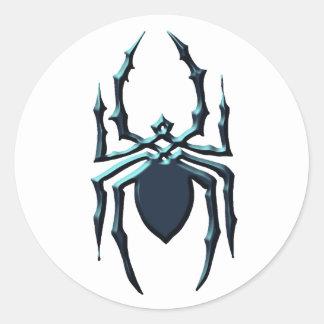 Spider 1 classic round sticker