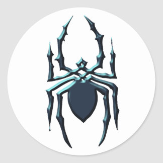 Spider 1 round sticker