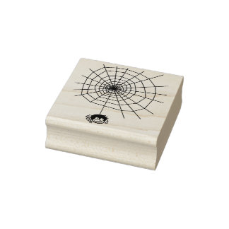 Spider and web 4 illustration art stamp