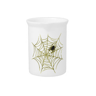 Spider and Web Drink Pitchers