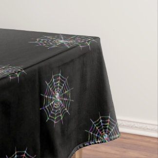 Spider and Web Halloween Tablecloth