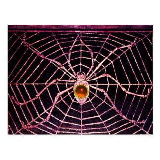 SPIDER AND WEB Orange Agate Black Post Cards