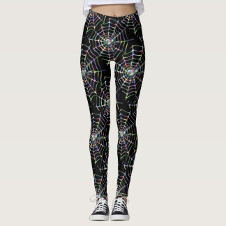 Spider and Web Pattern Leggings