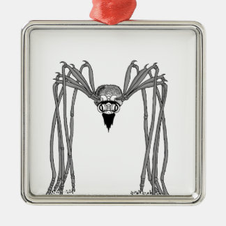 spider . black and white metal ornament