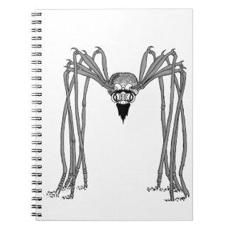 spider . black and white notebooks