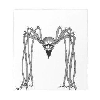 spider . black and white notepad