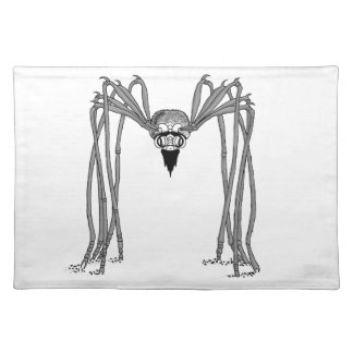 spider . black and white placemat
