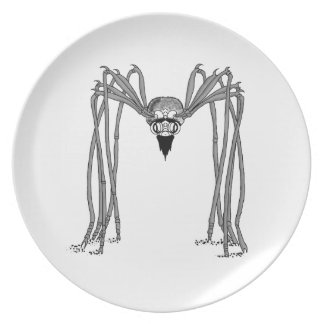 spider . black and white plate