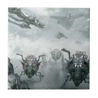 Spider Bots Ceramic Tile