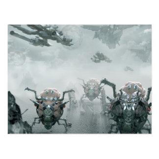 Spider Bots Postcard