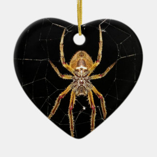 Spider design ceramic ornament